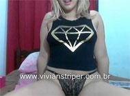 Safada Fazendo Stripper na Webcam